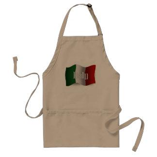 Italy Waving Flag Adult Apron