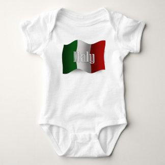 Italy Waving Flag Baby Bodysuit