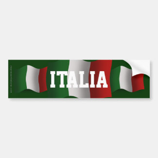 Italy Waving Flag Bumper Stickers