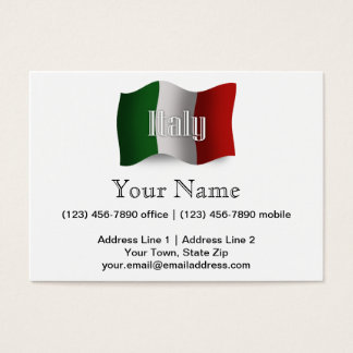 Italy Waving Flag Business Card