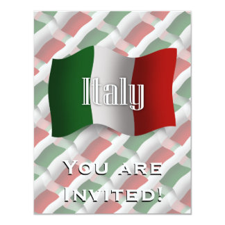 Italy Waving Flag Card