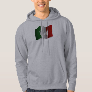 Italy Waving Flag Hoodie