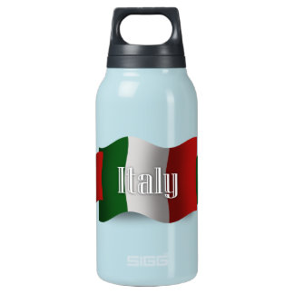 Italy Waving Flag Insulated Water Bottle