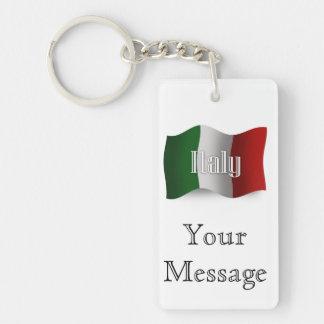 Italy Waving Flag Keychain