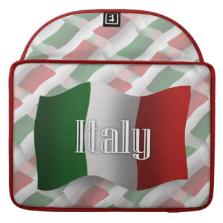Italy Waving Flag Sleeve For MacBook Pro