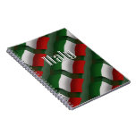 Italy Waving Flag Note Books