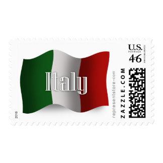 Italy Waving Flag Postage