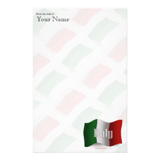 Italy Waving Flag Stationery