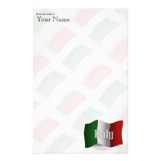 Italy Waving Flag Stationery