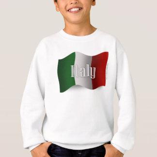 Italy Waving Flag Sweatshirt