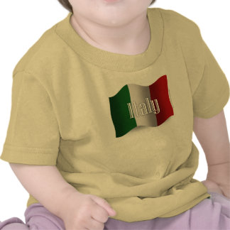 Italy Waving Flag T Shirt