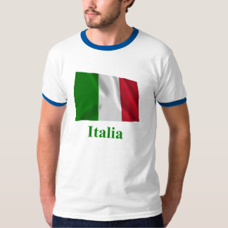 Italy Waving Flag with Name in Italian T-Shirt