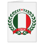 Italy Wreath Greeting Card