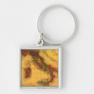 ItalyPanoramic MapItaly Key Chain