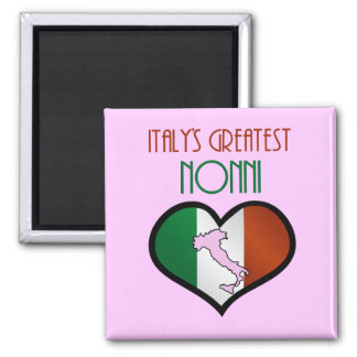 Italy's Greatest Nonni 2 Inch Square Magnet