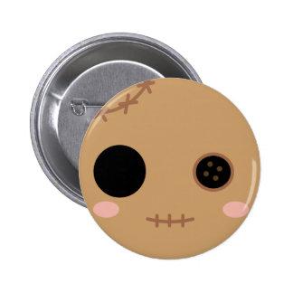 Itami la cabeza de la muñeca del vudú pin redondo de 2 pulgadas
