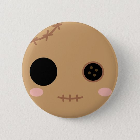 Itami the Voodoo Doll Head Button