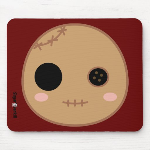 Itami the Voodoo Doll Head Mouse Mats