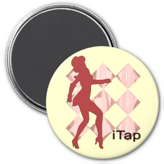 iTap Gal   iPod Graphics for Tap 3 Inch Round Magnet