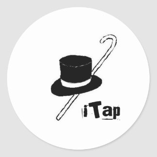 iTap Tap Dance Hat and Cane Sticker Black & White