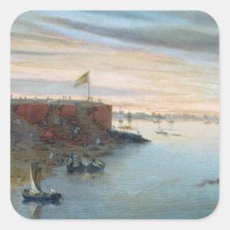 Itapiru, Paraguay, 1866 (oil on canvas) Square Sticker
