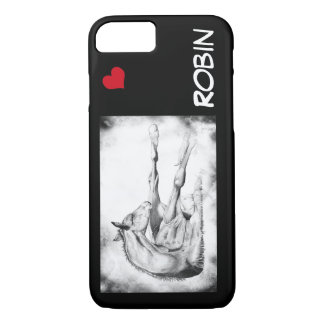 Itch Too with red heart iPhone 7 Case
