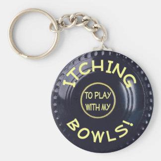 ITCHING BOWLS! BASIC ROUND BUTTON KEYCHAIN