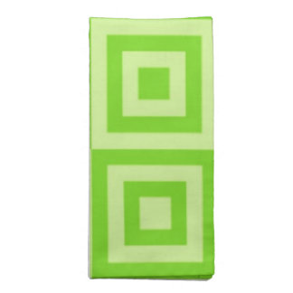 Itchworm Green Tiles Napkin