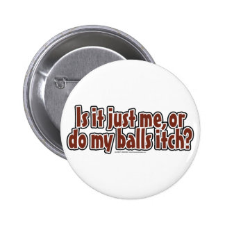 Itchy Balls Pinback Button