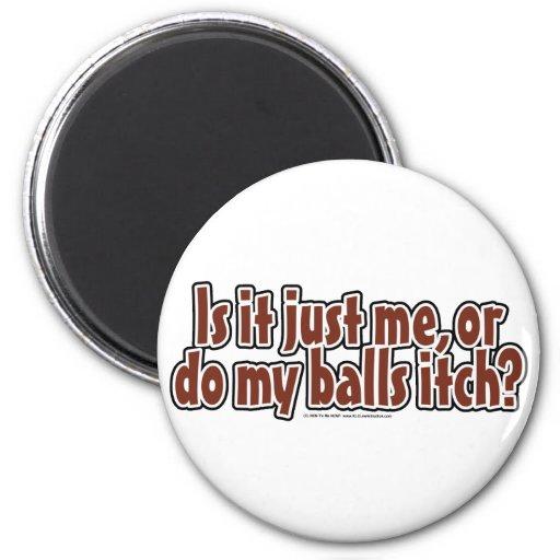 Itchy Balls Refrigerator Magnet