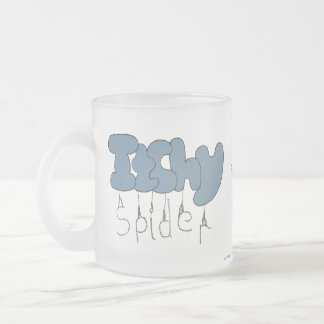 Itchy spider 10 oz frosted glass coffee mug