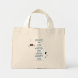 Itchy spider mini tote bag