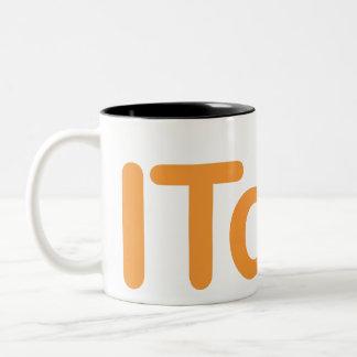 ITdo! Magnetic white (1) Two-Tone Coffee Mug