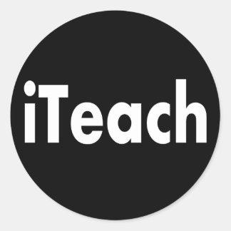 iTEACH Classic Round Sticker