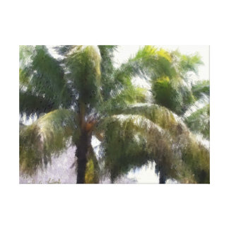 Item 041814 Palm - Winery Oil Pastel Study Canvas Print