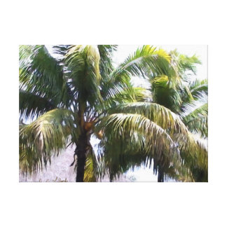 Item 041814 Palm - Winery Paint Expressive Study Canvas Print