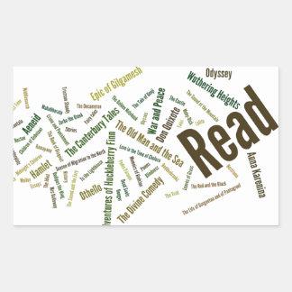 Items for Serious Readers! Rectangular Sticker