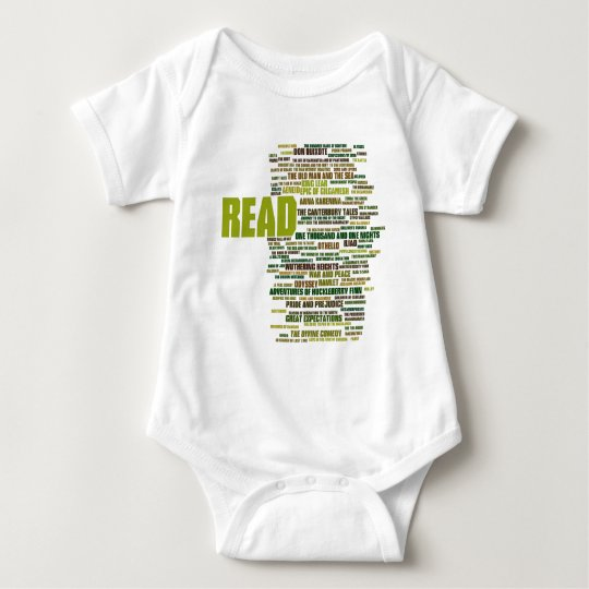 Items inspired by the 100 Greatest Books Baby Bodysuit
