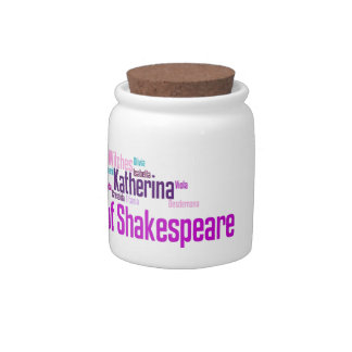 Items inspired by the women of Shakespeare's stori Candy Jars