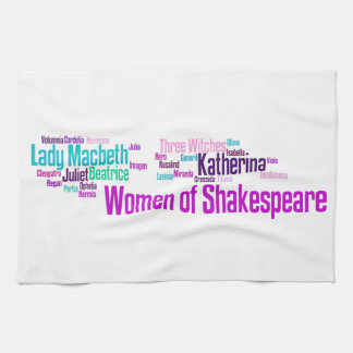 Items inspired by the women of Shakespeare's stori Kitchen Towel