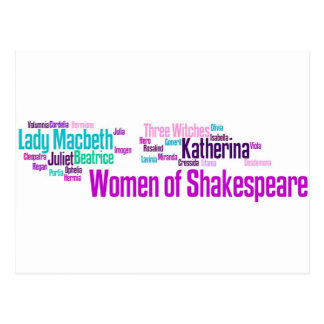 Items inspired by the women of Shakespeare's stori Postcard