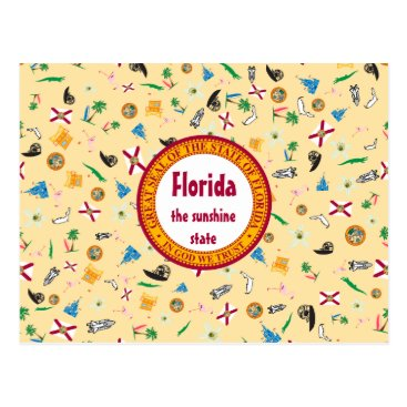 Beach Themed Items of Florida the sunshine state Postcard