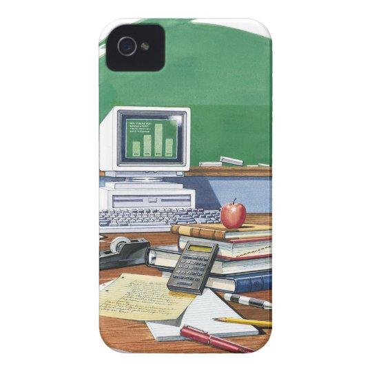 Items on a school teachers desk  Color iPhone 4 Case