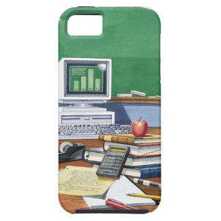 Items on a school teachers desk  Color iPhone SE/5/5s Case