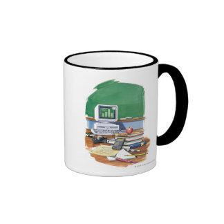Items on a school teachers desk  Color Ringer Mug