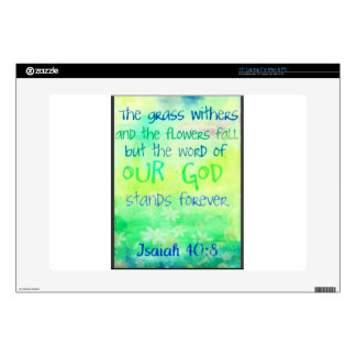 """Items with colorful scripture design 15"""" laptop decals"""