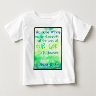 Items with colorful scripture design baby T-Shirt