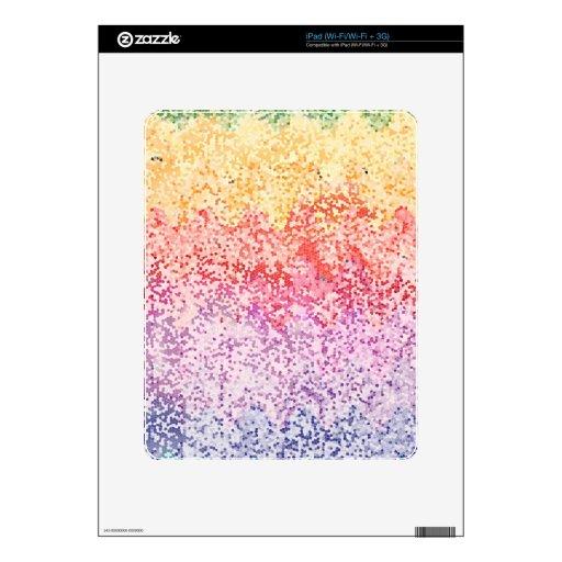 Iteraciones del arco iris calcomanía para el iPad