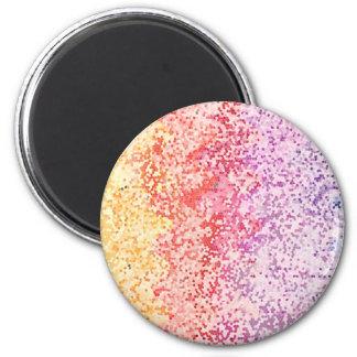 Iteraciones del arco iris imán redondo 5 cm