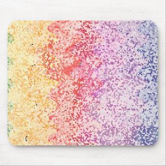Iteraciones del arco iris tapete de ratones